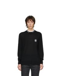Jersey con cuello circular en negro y blanco de Neil Barrett