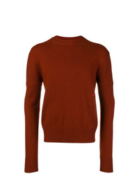 Jersey con cuello circular en tabaco de Calvin Klein 205W39nyc