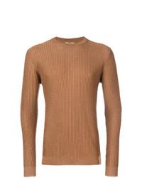 Jersey con cuello circular en tabaco de Nuur