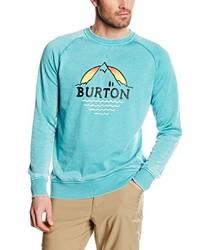 Jersey con cuello circular en turquesa de Burton
