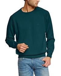 Jersey con cuello circular en verde azulado de Casamoda