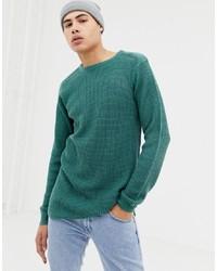 Jersey con cuello circular en verde azulado de D-struct