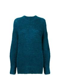 Jersey con cuello circular en verde azulado de Isabel Marant