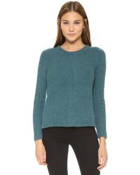 Jersey con cuello circular en verde azulado de Madewell