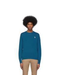 Jersey con cuello circular en verde azulado de Ps By Paul Smith