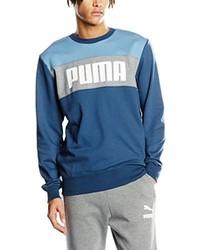 Jersey con cuello circular en verde azulado de Puma