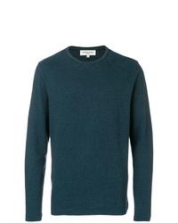 Jersey con cuello circular en verde azulado de YMC