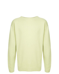 Jersey con cuello circular en verde menta de H Beauty&Youth