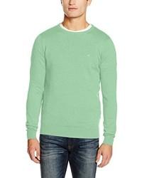 Jersey con cuello circular en verde menta de Tom Tailor
