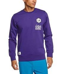 Jersey con cuello circular en violeta de adidas