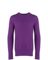Jersey con cuello circular en violeta de Drumohr