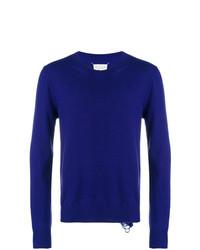 Jersey con cuello circular en violeta de Maison Margiela