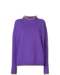 Jersey con cuello circular en violeta de Marni