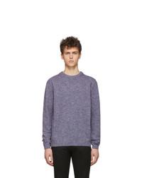 Jersey con cuello circular en violeta de Paul Smith