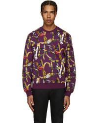 Jersey con cuello circular en violeta de Versace