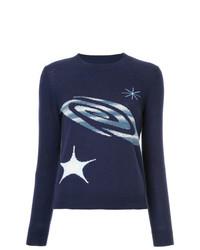 Jersey con cuello circular estampado azul marino de Onefifteen