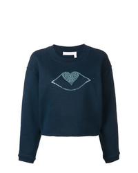 Jersey con cuello circular estampado azul marino de See by Chloe
