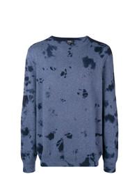Jersey con cuello circular estampado azul de A.P.C.