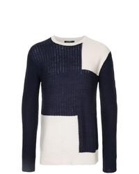 Jersey con cuello circular estampado en azul marino y blanco de GUILD PRIME