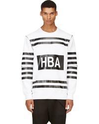 Jersey con cuello circular estampado en blanco y negro de Hood by Air