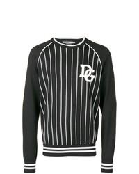 Jersey con cuello circular estampado en gris oscuro de Dolce & Gabbana