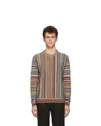 Jersey con cuello circular estampado en multicolor de Paul Smith