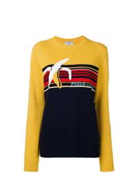 Jersey con cuello circular estampado en multicolor de Prada