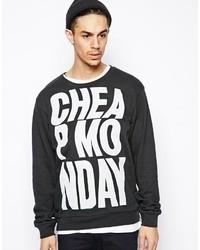 Jersey con cuello circular estampado en negro y blanco de Cheap Monday