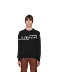 Jersey con cuello circular estampado en negro y blanco de Givenchy