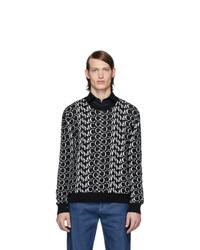Jersey con cuello circular estampado en negro y blanco de McQ Alexander McQueen