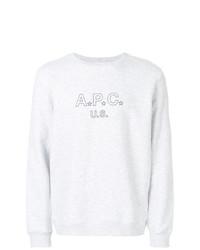 Jersey con cuello circular estampado gris de A.P.C.