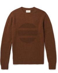 Jersey con cuello circular estampado marrón de Oliver Spencer
