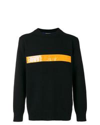 Jersey con cuello circular estampado negro de Junya Watanabe MAN