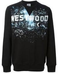 Jersey con cuello circular estampado negro de Vivienne Westwood