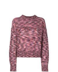 Jersey con cuello circular estampado rosa de IRO