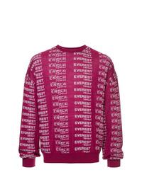 Jersey con cuello circular estampado rosa de Yoshiokubo