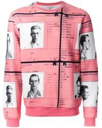 Jersey con cuello circular estampado rosado de Carven