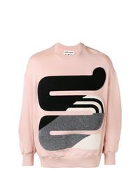 Jersey con cuello circular estampado rosado de Henrik Vibskov