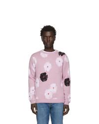 Jersey con cuello circular estampado rosado de Saturdays Nyc