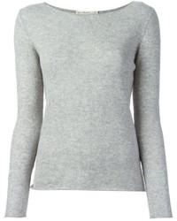 Jersey con cuello circular gris original 1330827