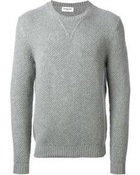 Jersey con cuello circular gris original 404838