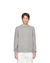 Jersey con cuello circular gris de Acne Studios