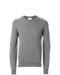 Jersey con cuello circular gris de AMI Alexandre Mattiussi