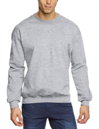 Jersey con cuello circular gris de Anvil