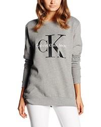 Jersey con cuello circular gris de Calvin Klein Jeans
