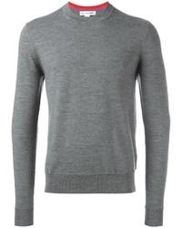 Jersey con cuello circular gris de Comme des Garcons