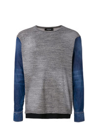 Jersey con cuello circular gris de DSQUARED2