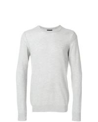 Jersey con cuello circular gris de Emporio Armani