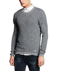 Jersey con cuello circular gris de Esprit