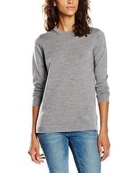 Jersey con cuello circular gris de GANT